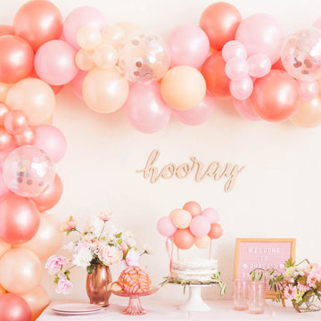 Rose Gold Confetti Balloon Garland Kit DIY