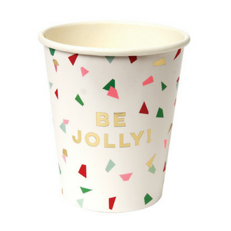 be jolly confetti paper cup