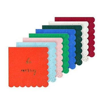 be merry colorful napkins