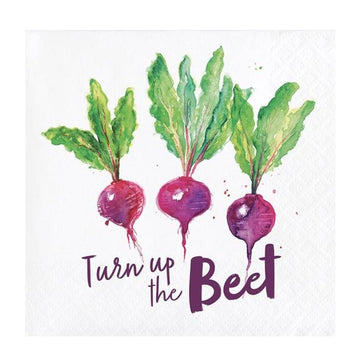 turn up the beet napkins
