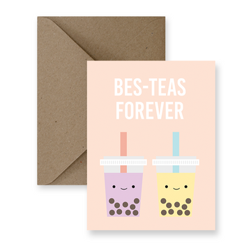 bes-teas forever boba greeting card