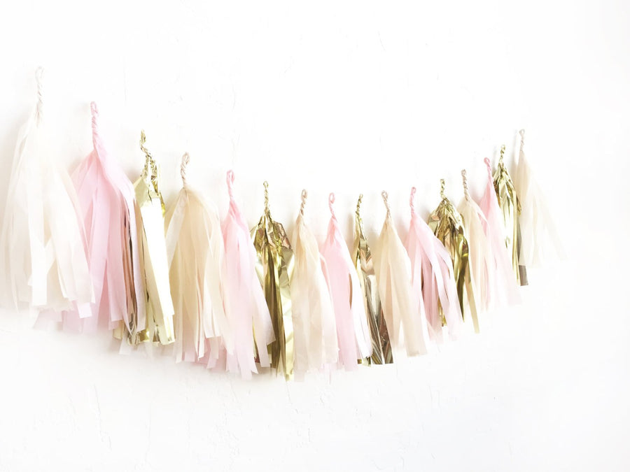 Blush & Gold Tassel Garland
