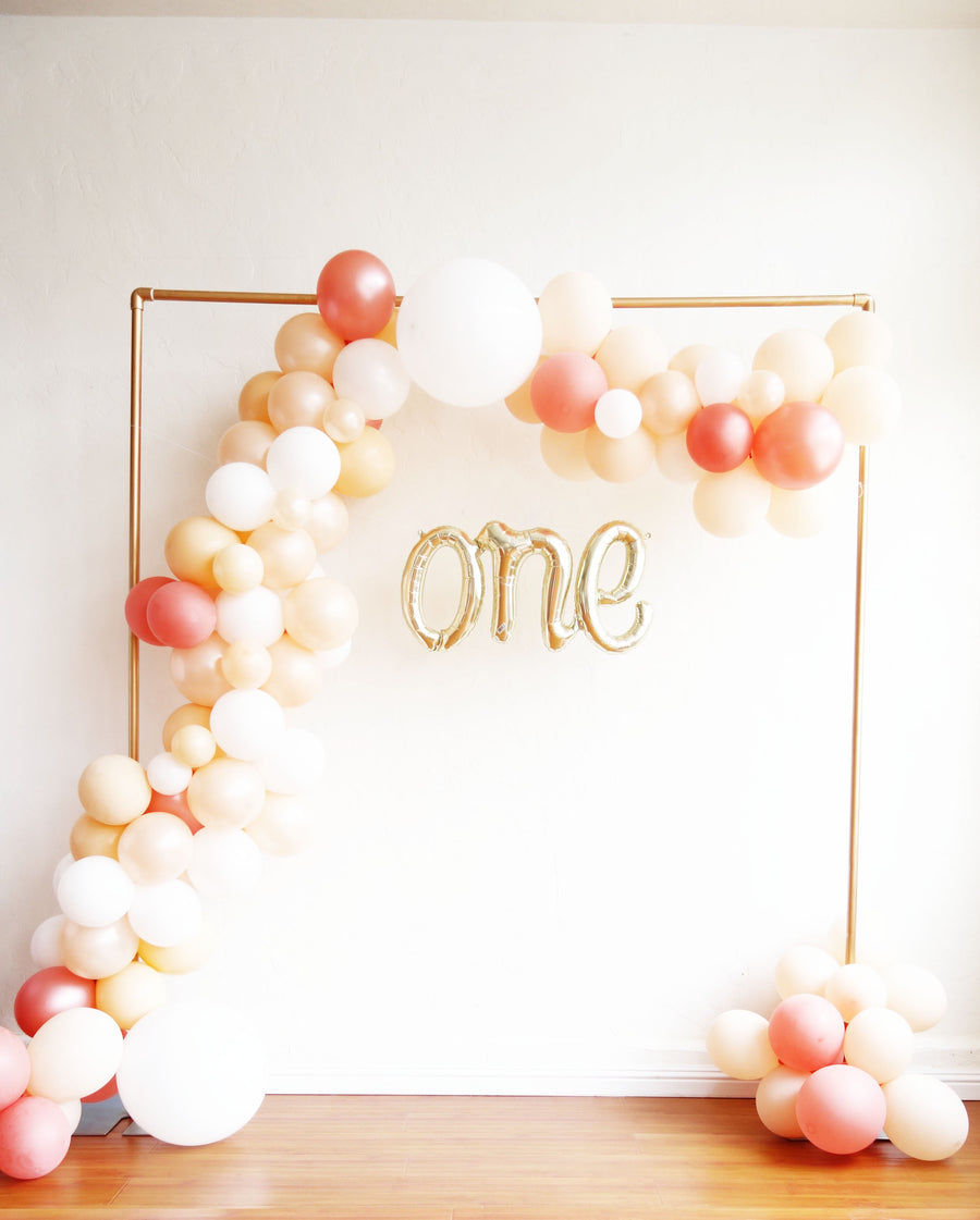 Balloon Garland Diy Kit In Rose Gold And Peach Oh Shiny
