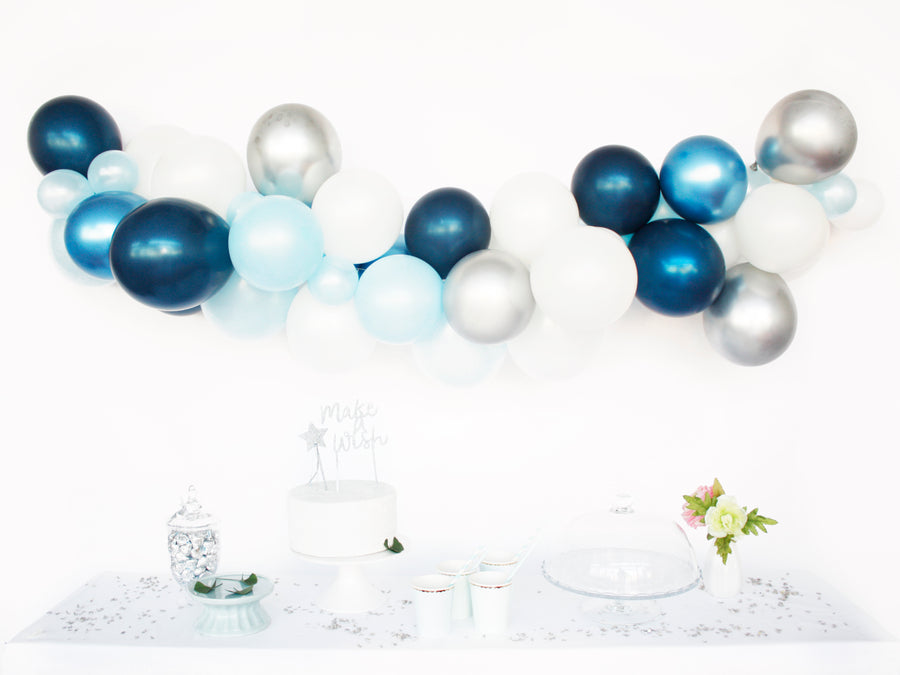 Balloon Garland Kit - DIY Blue Birthday, Baby Shower Arch