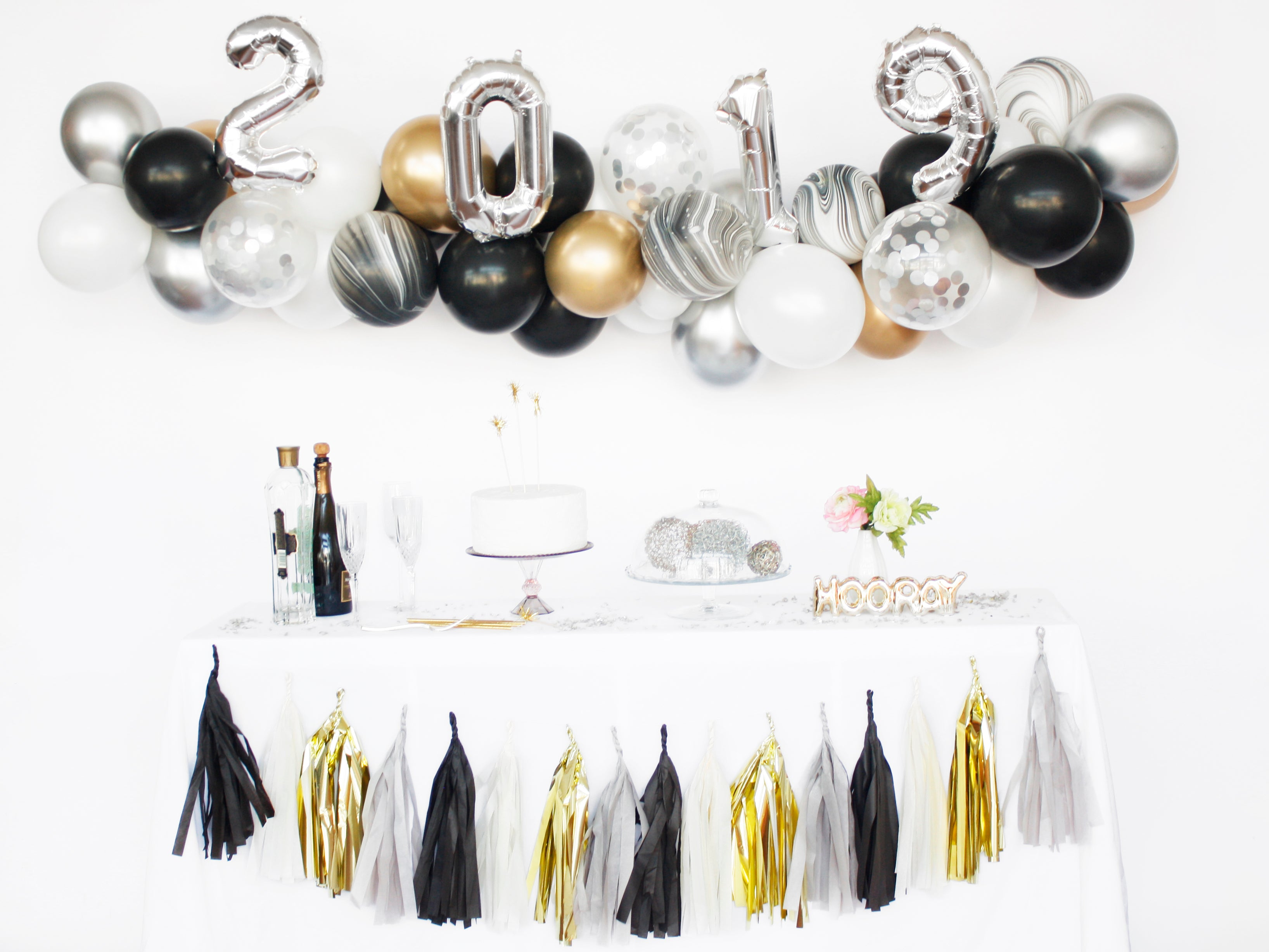 Balloon Garland Kit Diy New Years Eve 2019 Arch Backdrop Oh