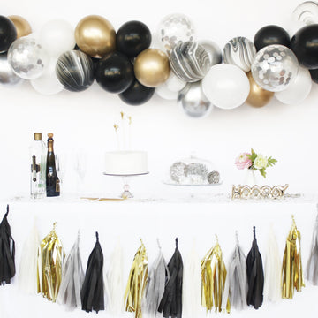 Balloon Garland DIY Kit in Black & Gold
