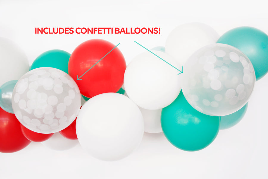 Balloon Garland DIY Kit in Mint & Red