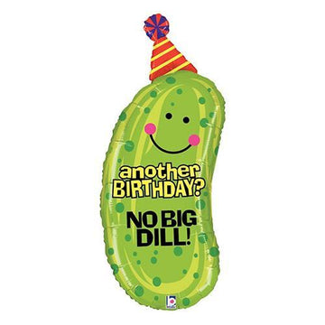 no big dill pickle birthday balloon
