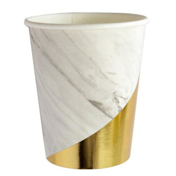 White Marble Cups