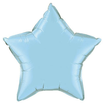 pastel blue star balloon