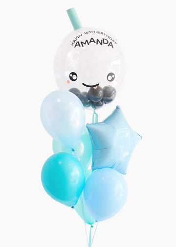 Boba Balloon in Blueberry Slushie | Personalized Name!