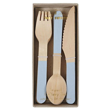 light blue birch cutlery