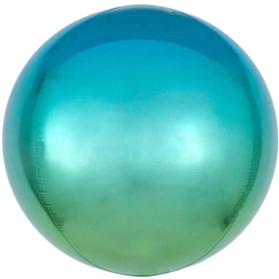 Ombre Blue-Green Orb Balloon