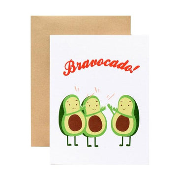 bravocado avocado pun congratualations greeting card