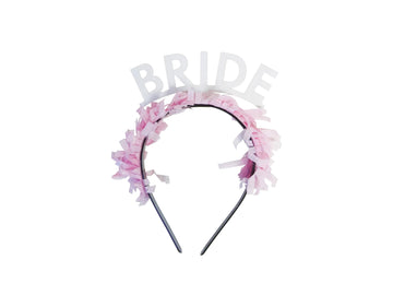 Bride Headband - White