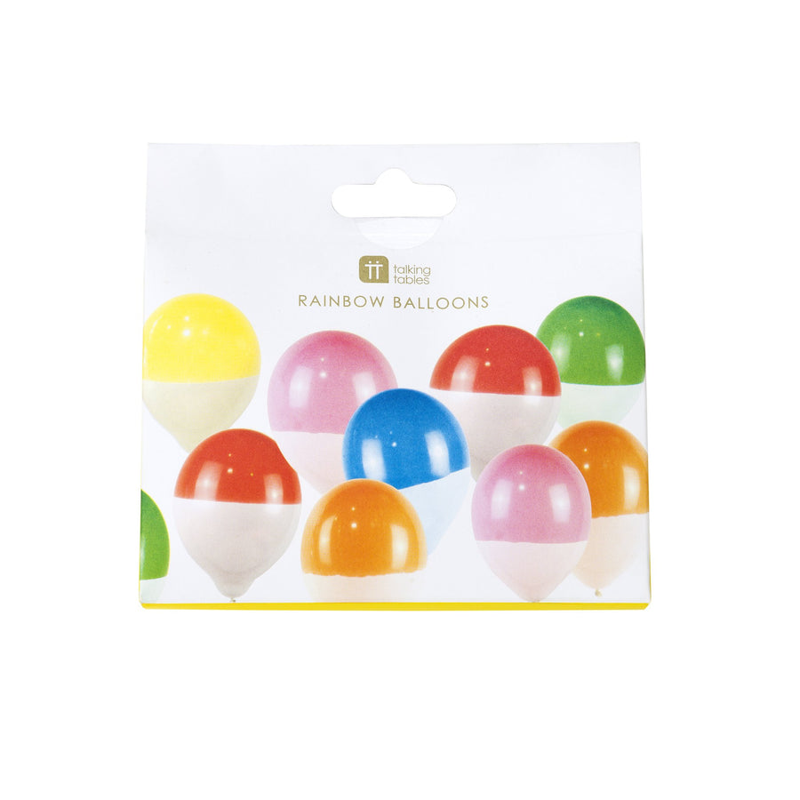 Two Toned Rainbow Balloons 12 pack