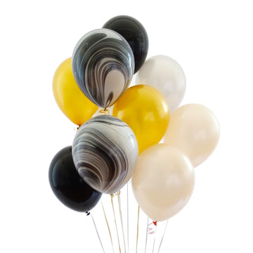 Balloon Bouquet in Black & Gold