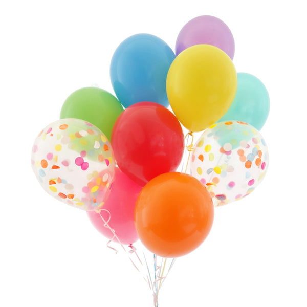 Confetti Rainbow Balloon Bundle
