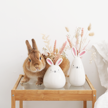 Dried Floral Bunny Vase (Locals Only)