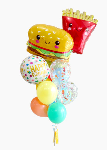 Burger & Fries Birthday Balloongram