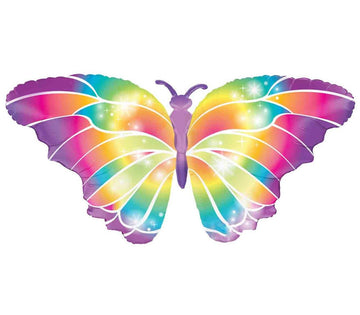 Rainbow Butterfly Balloon