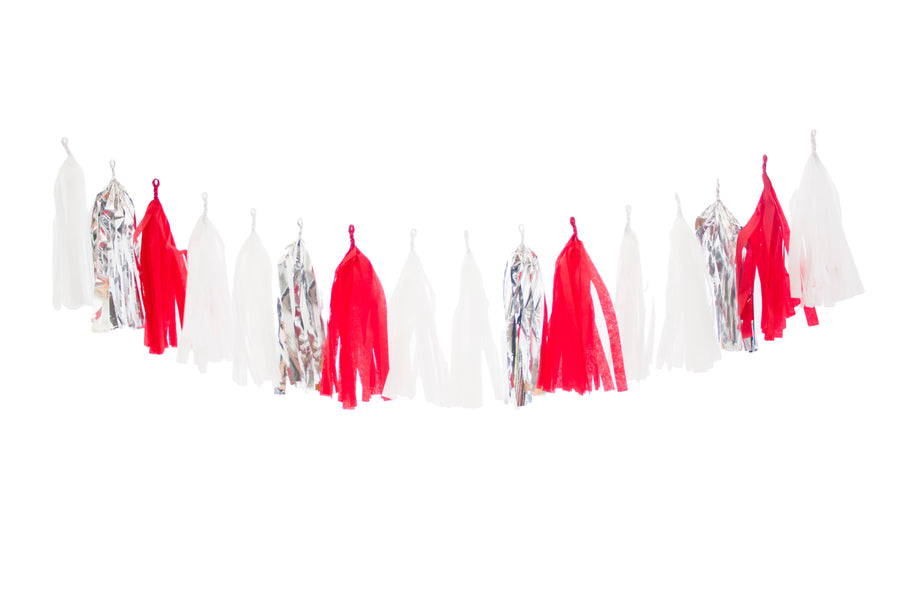 Christmas Tassel Garland - Candy Cane