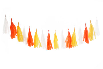 Halloween Tassel Garland - Candy Corn