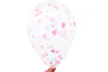 Confetti Balloons - Pack of 6 - Peaches & Mint