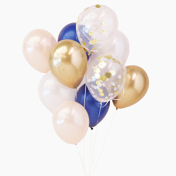 Balloon Bouquet in Champagne Navy
