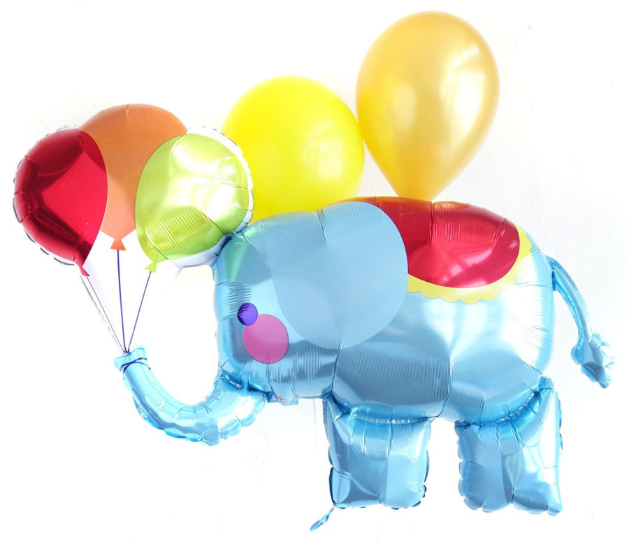 blue circus elephant balloon