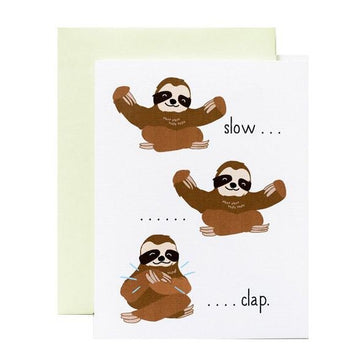 slow clap sloth card