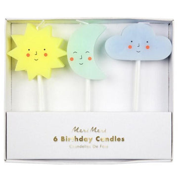 sun moon cloud candles