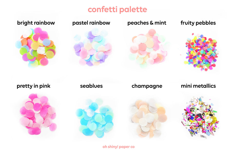 Confetti Balloons - Pack of 6 - Pastel Rainbow