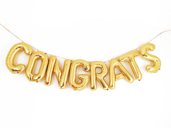 CONGRATS letter balloon kit