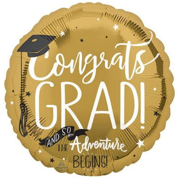 gold congrats grad cap adventure balloon