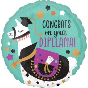 Congrats on your Dipllama Small Mylar Balloon