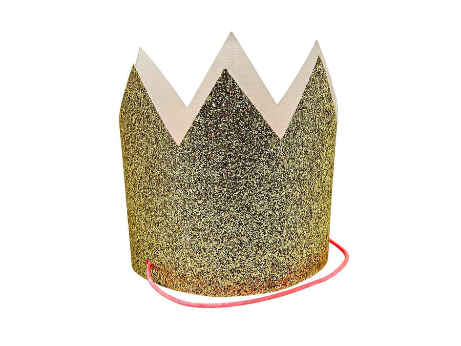 Gold Glittered Crown Hats