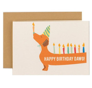 Happy Birthday Dawg Card