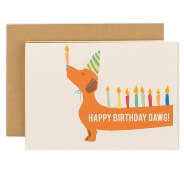 happy birthday dawg dog greeting card