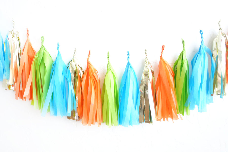 Dinosaur Party Tassel Garland