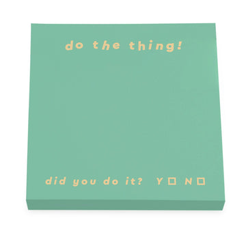 do the thing green sticky note pad