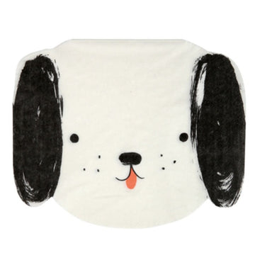 black and white dog napkin