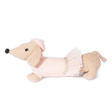 pink dress dachshund plush