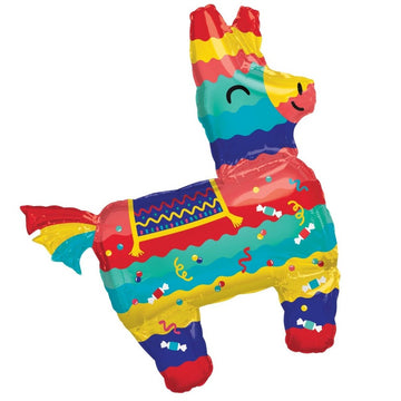 colorful smiling donkey pinata balloon