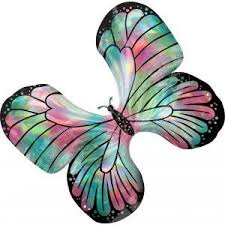 holographic rainbow butterfly balloon