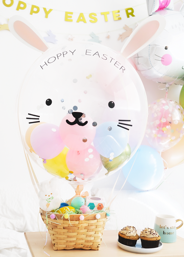 Easter Bunny Balloon Basket