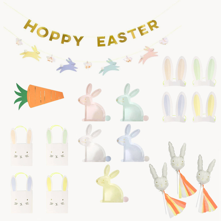 hoppy easter colorful decorations