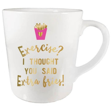 Exercise Extra Fries Mug