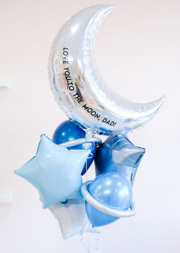 Father's Day Balloongram: Love You to the Moon