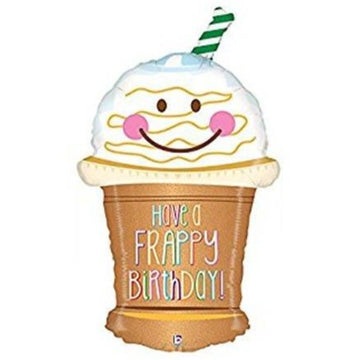 smiling frappuccino frappy birthday balloon